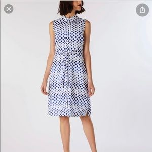 Cath Kidston Ombre Spot Sleeveless Dress Blue 12